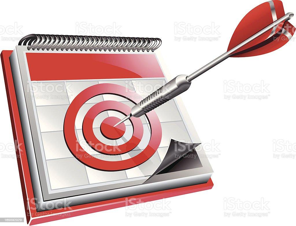 target date royalty-free stock vector art