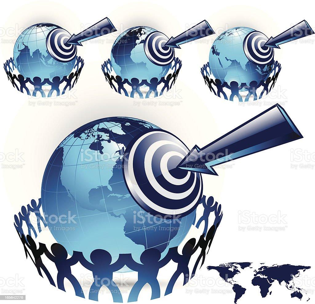target earth royalty-free stock vector art