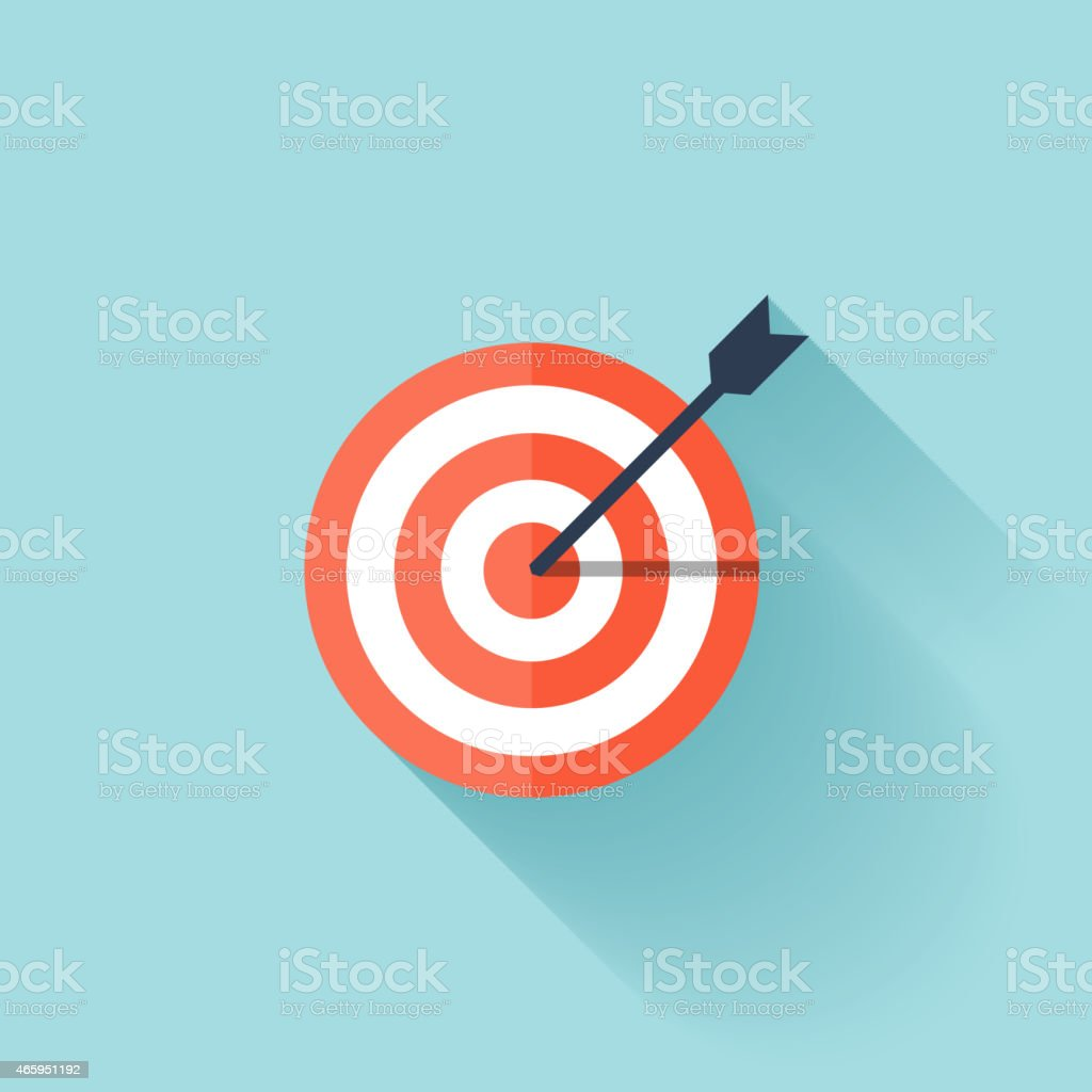 Target flat icon vector art illustration