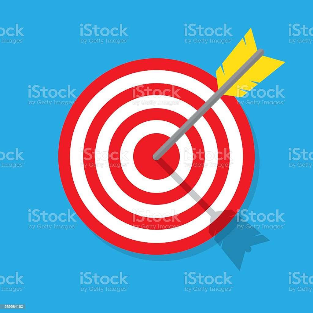 Target flat icon. vector art illustration