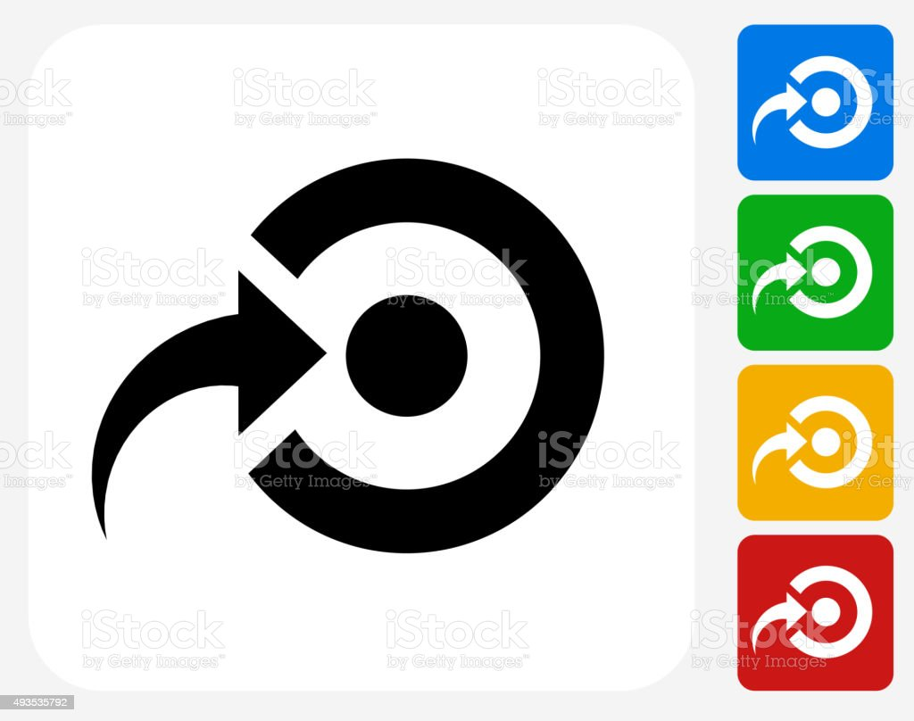 Target Icon Flat Graphic Design vector art illustration