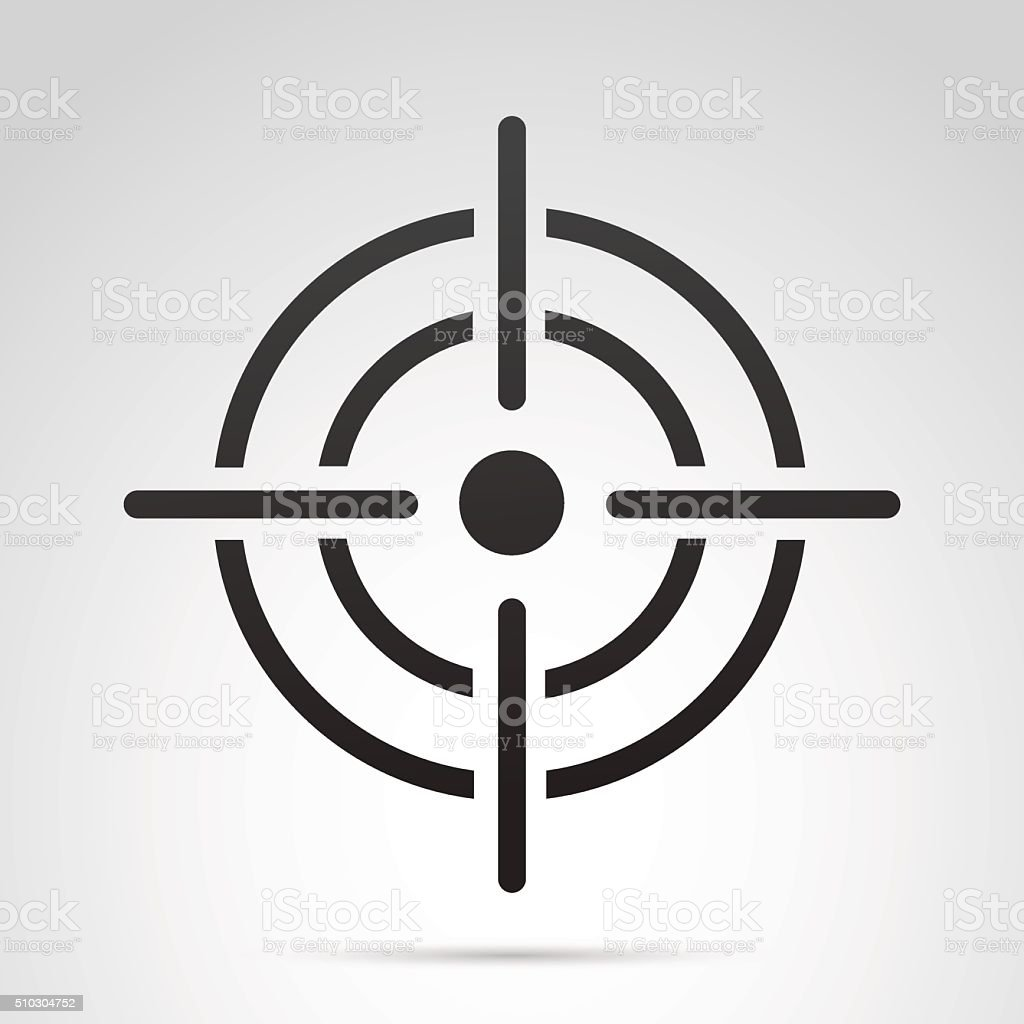Target icon isolated on white background. vector art illustration