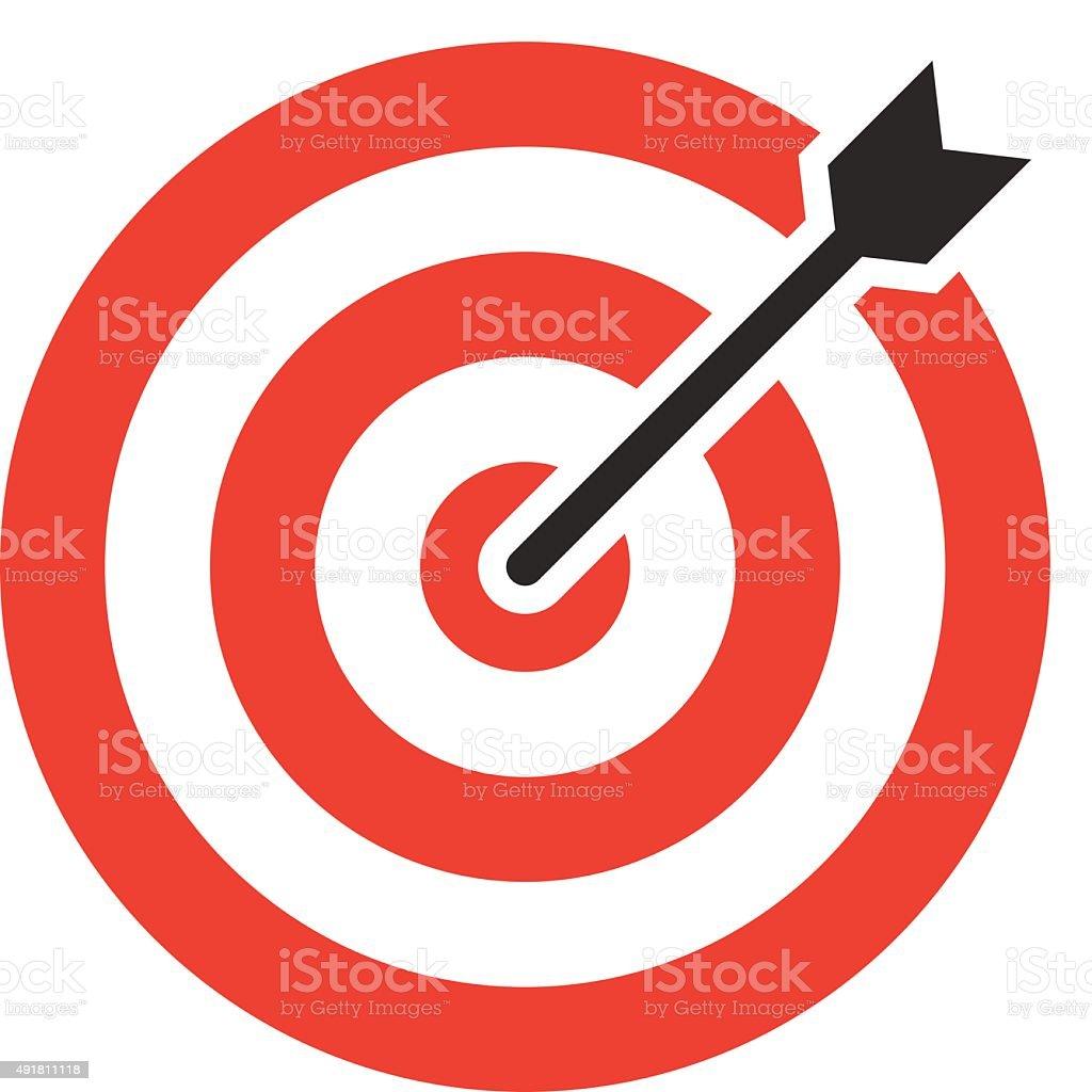Target icon, modern minimal flat design style. Darts vector illustration vector art illustration