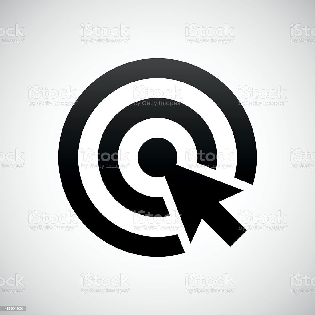 Target icon on a white background. vector art illustration