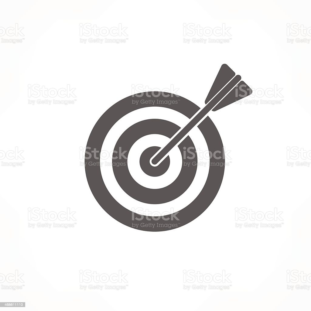 target icon vector art illustration