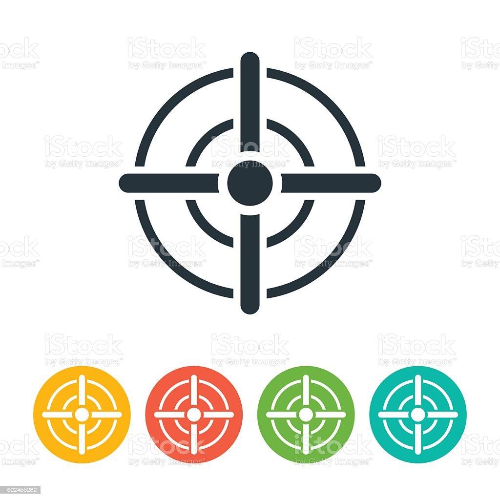 Target Icon vector art illustration