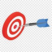 Target isometric 3d icon