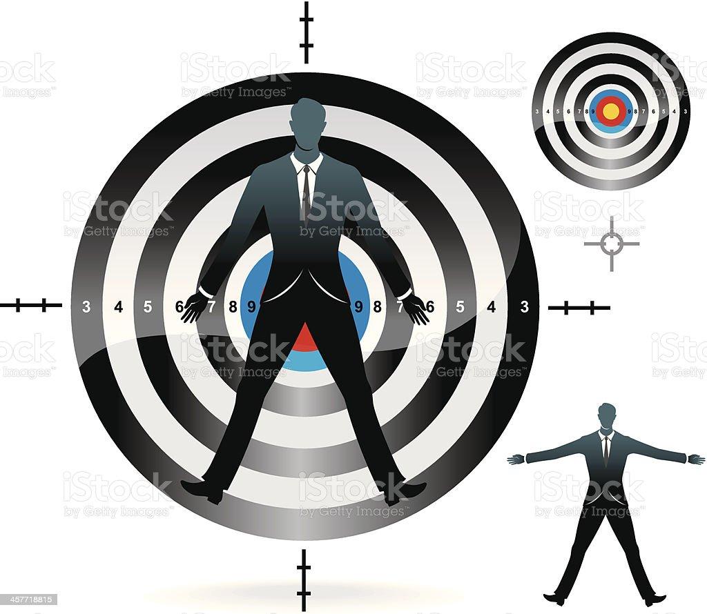 Target Market - Male royalty-free stock vector art