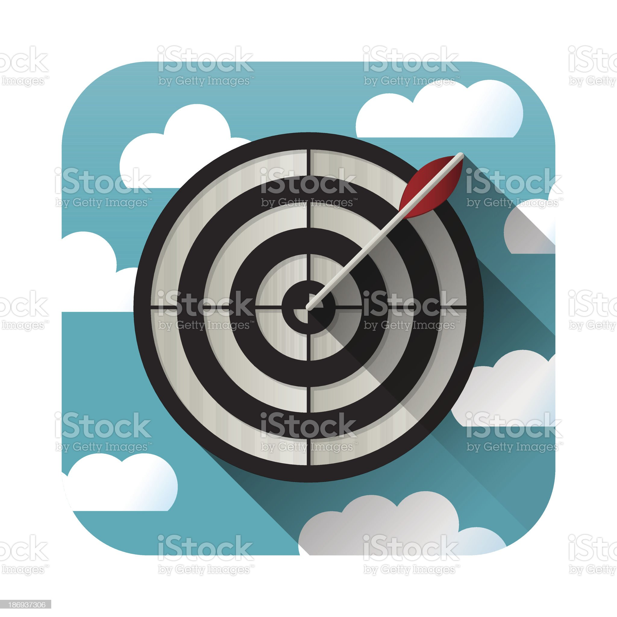 Target practice icon royalty-free stock vector art