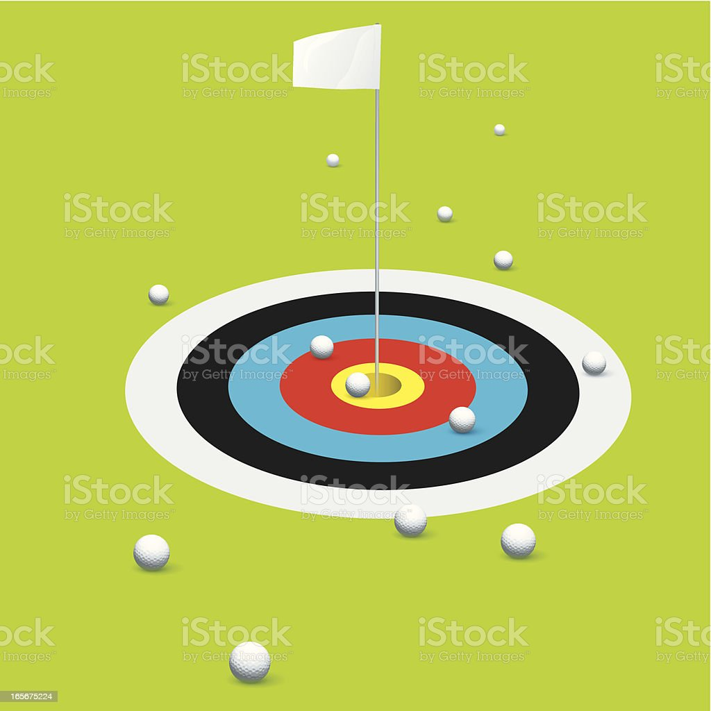 Target practice royalty-free stock vector art