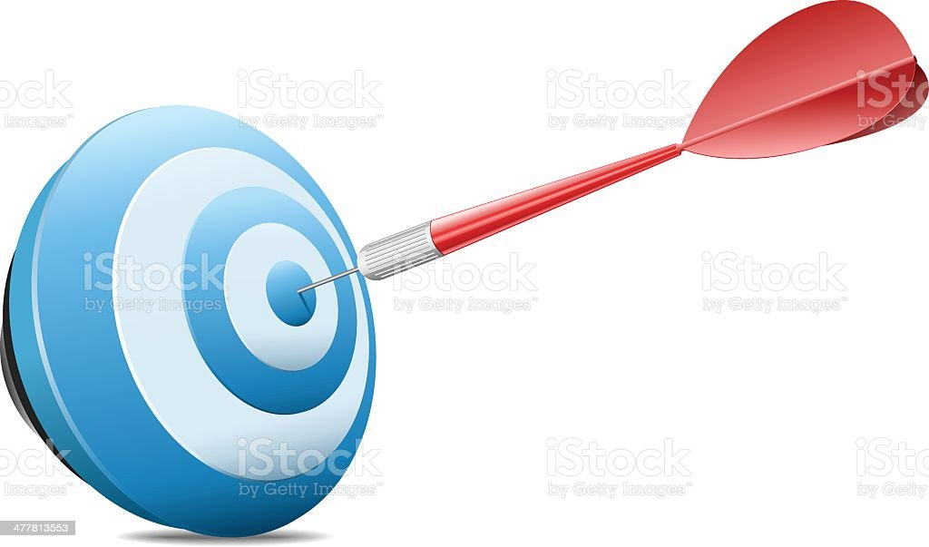 Target with arrow royalty-free stock vector art
