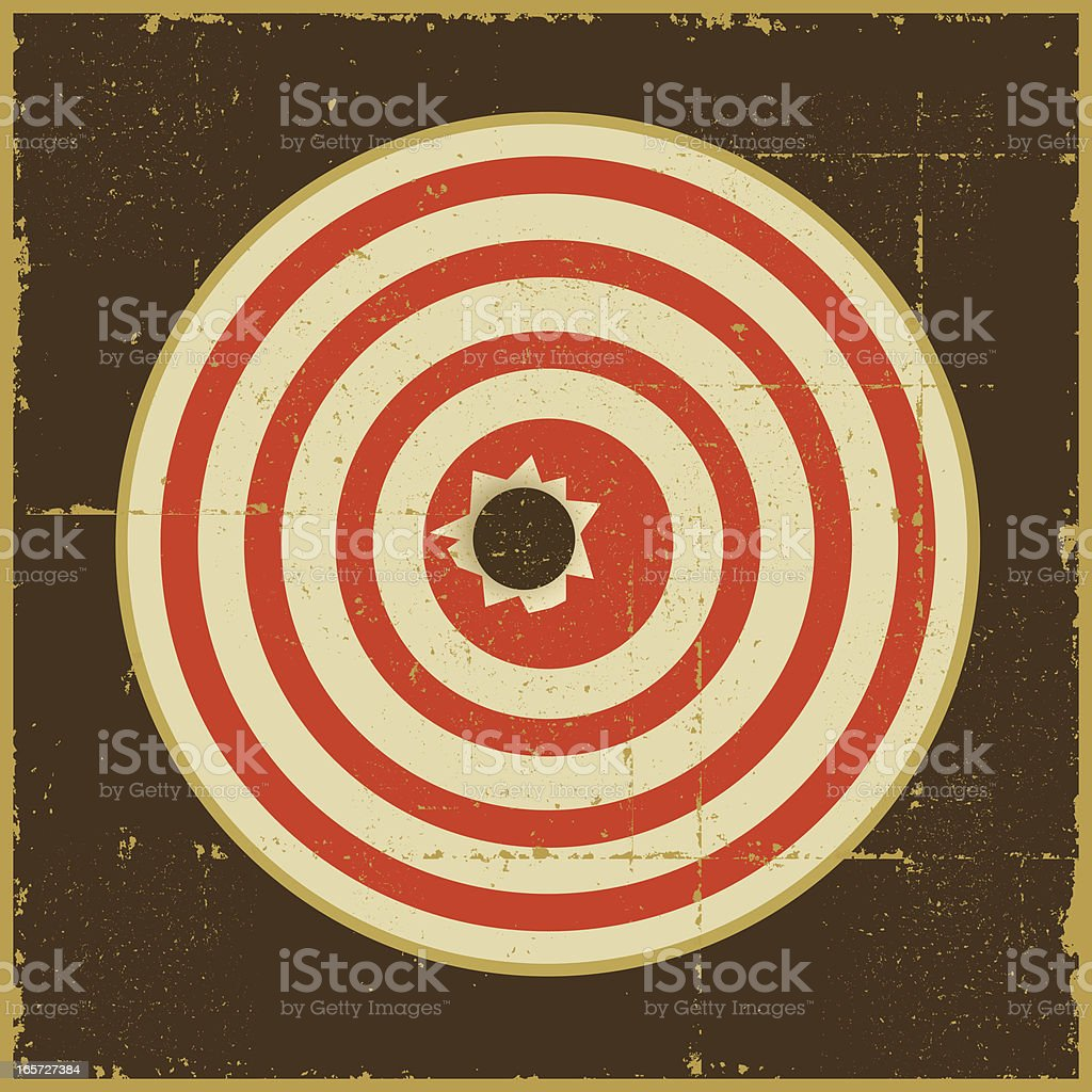 Target with Bullet Hole vector art illustration