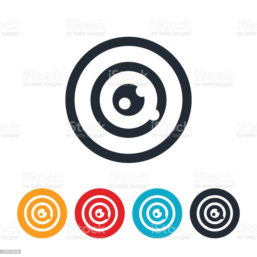Target With Bullet Holes Icon vector art illustration
