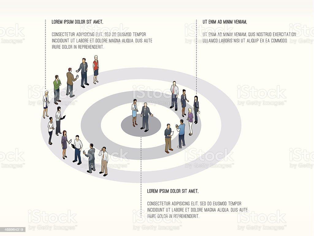 Target with People Slide Template vector art illustration