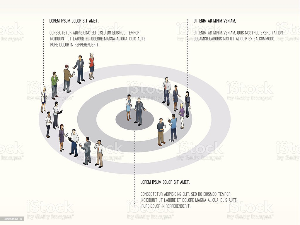 Target with People Slide Template vector art illustration