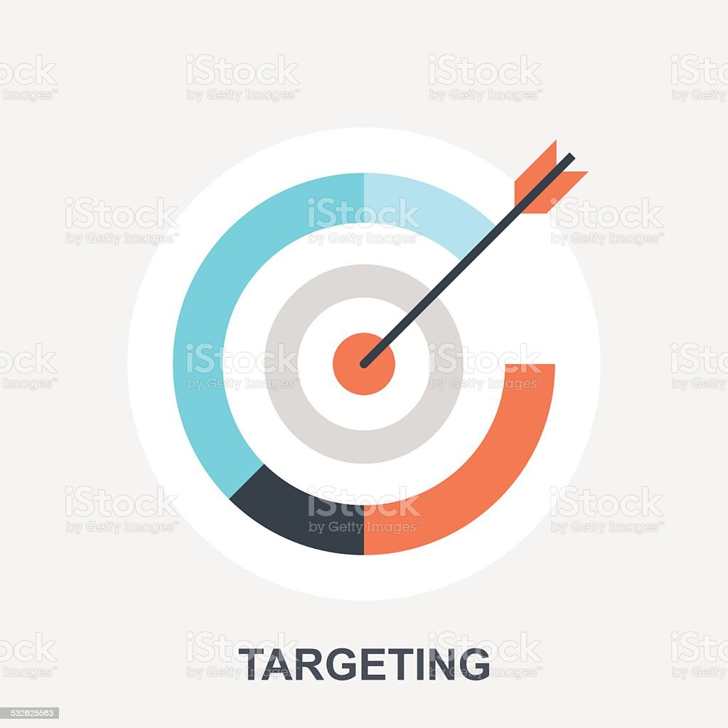 Targeting vector art illustration