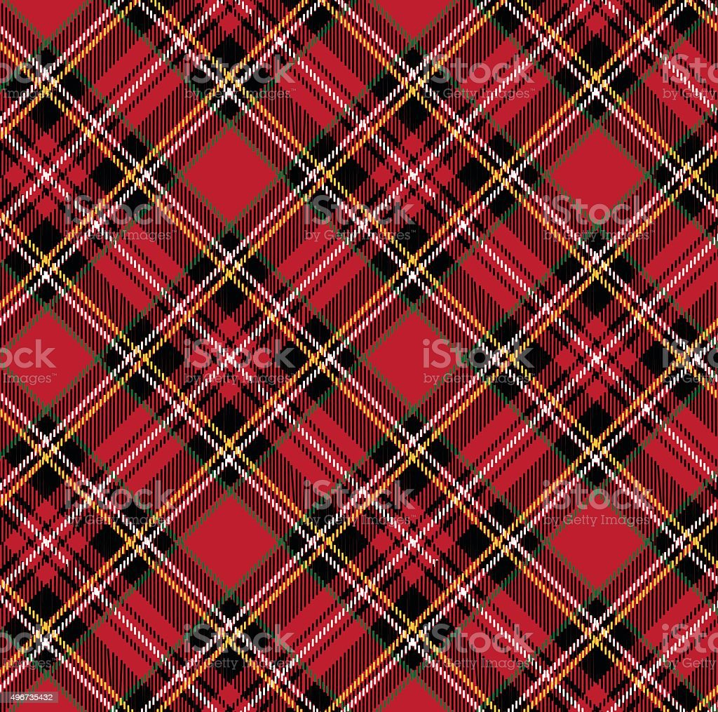 Tartan pattern background.eps vector art illustration