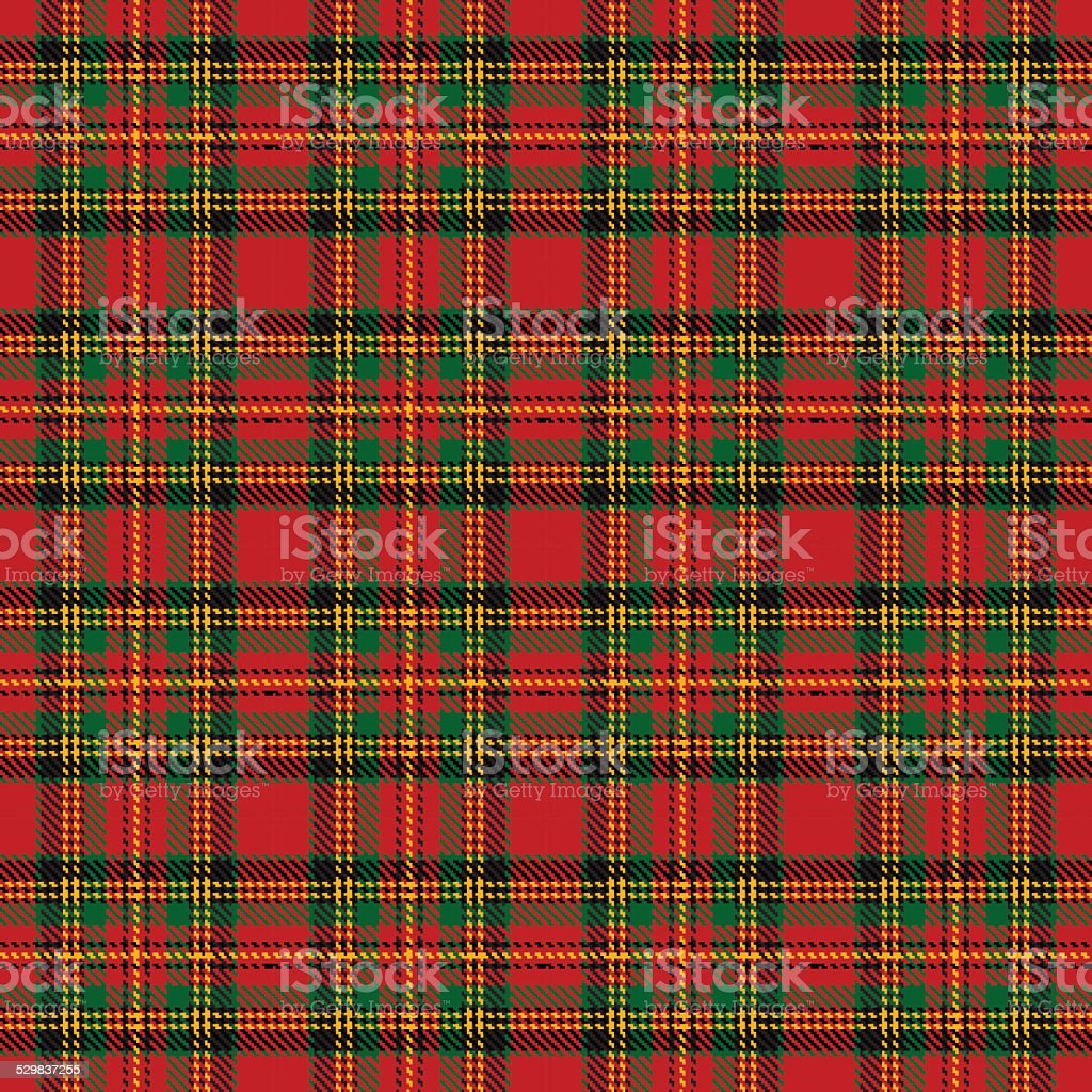 tartan pattern vector art illustration