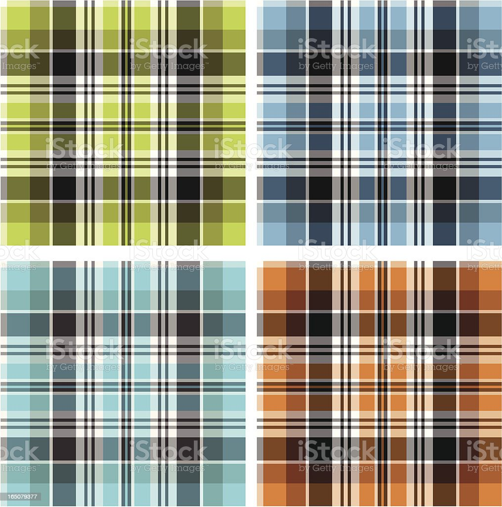 Tartan Plaid royalty-free stock vector art