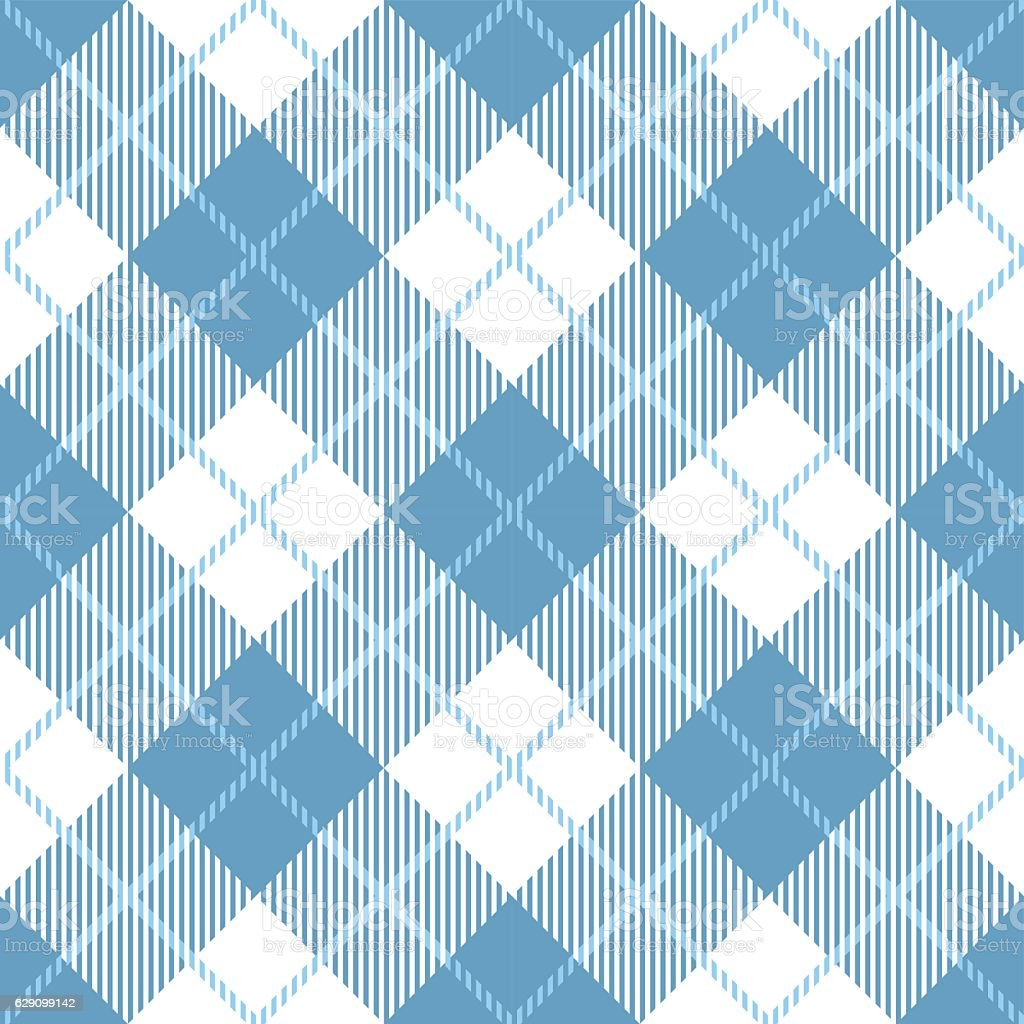 Tartan seamless vector patterns in white-blue colors vector art illustration
