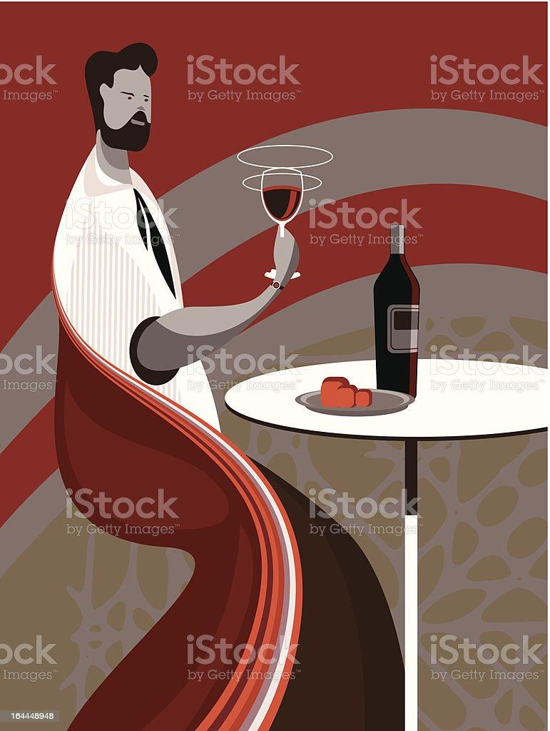 Taste wine royalty-free stock vector art