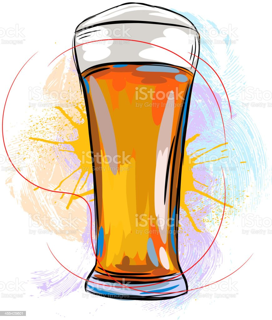 Tasty Beer vector art illustration