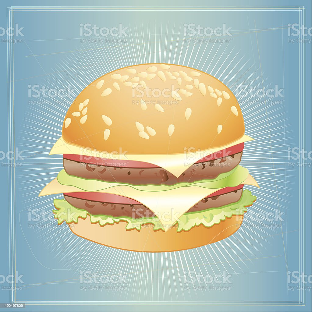 tasty burger royalty-free stock vector art