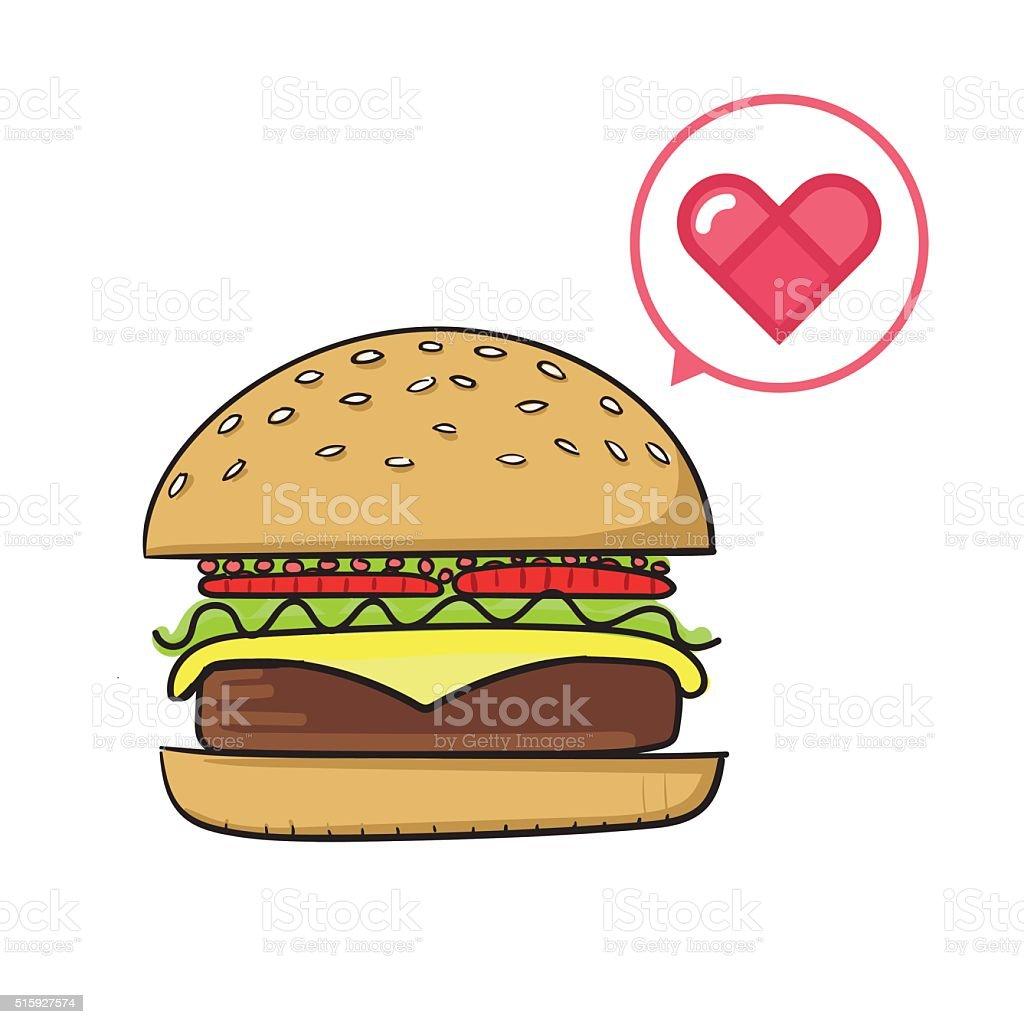 Tasty burger vector illustration vector art illustration