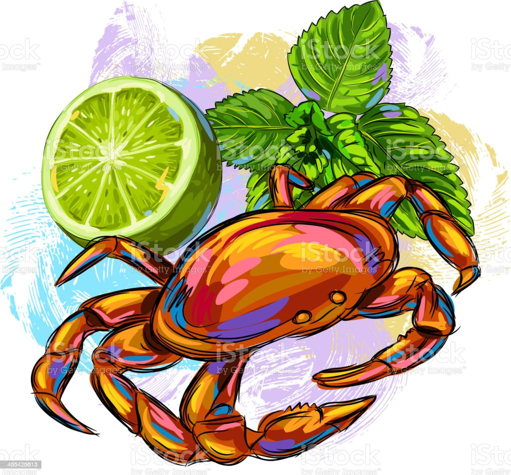 Tasty Crab royalty-free stock vector art