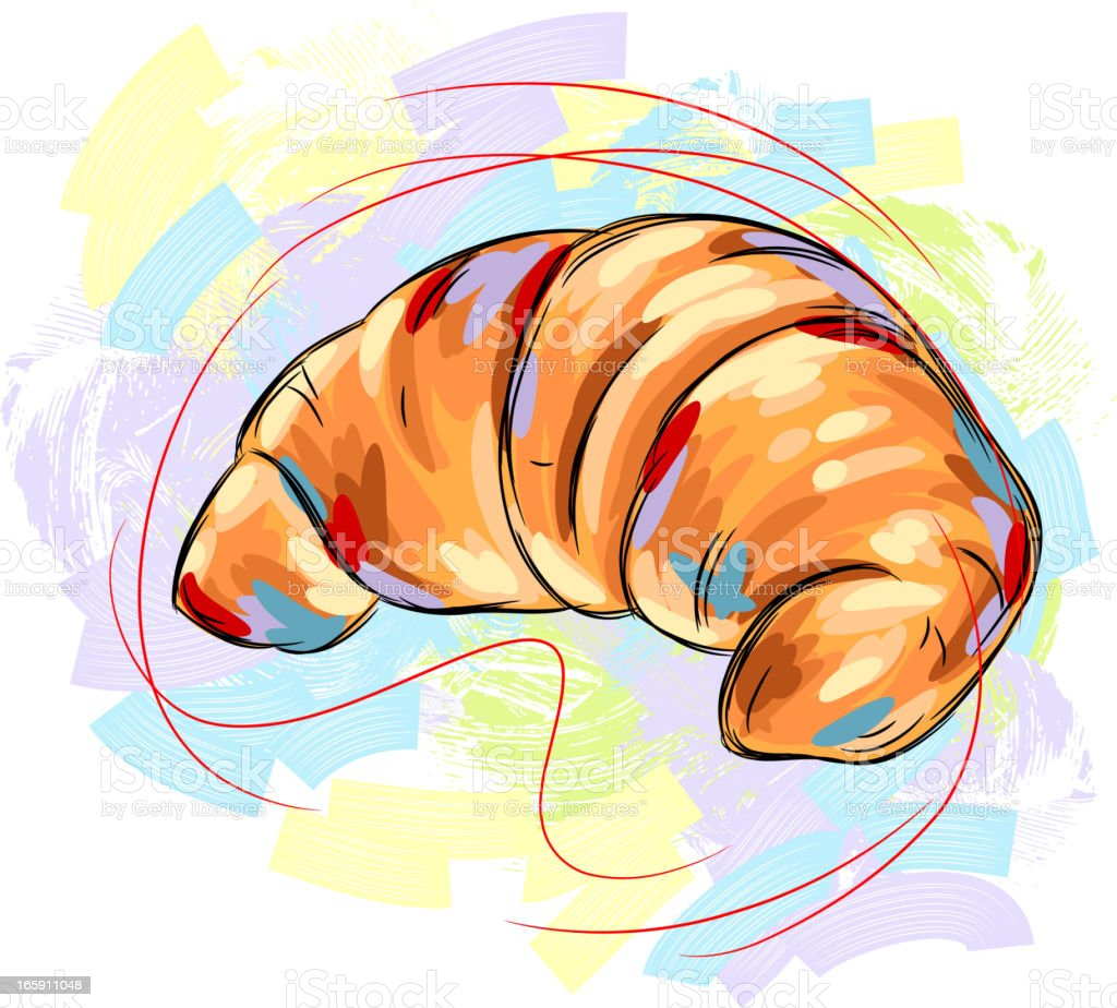 Tasty Croissant vector art illustration