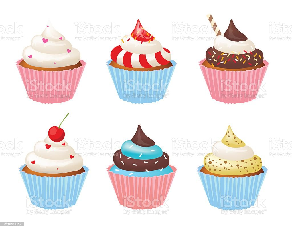 Tasty cupcake vector illustration. Cute and sweety vector art illustration