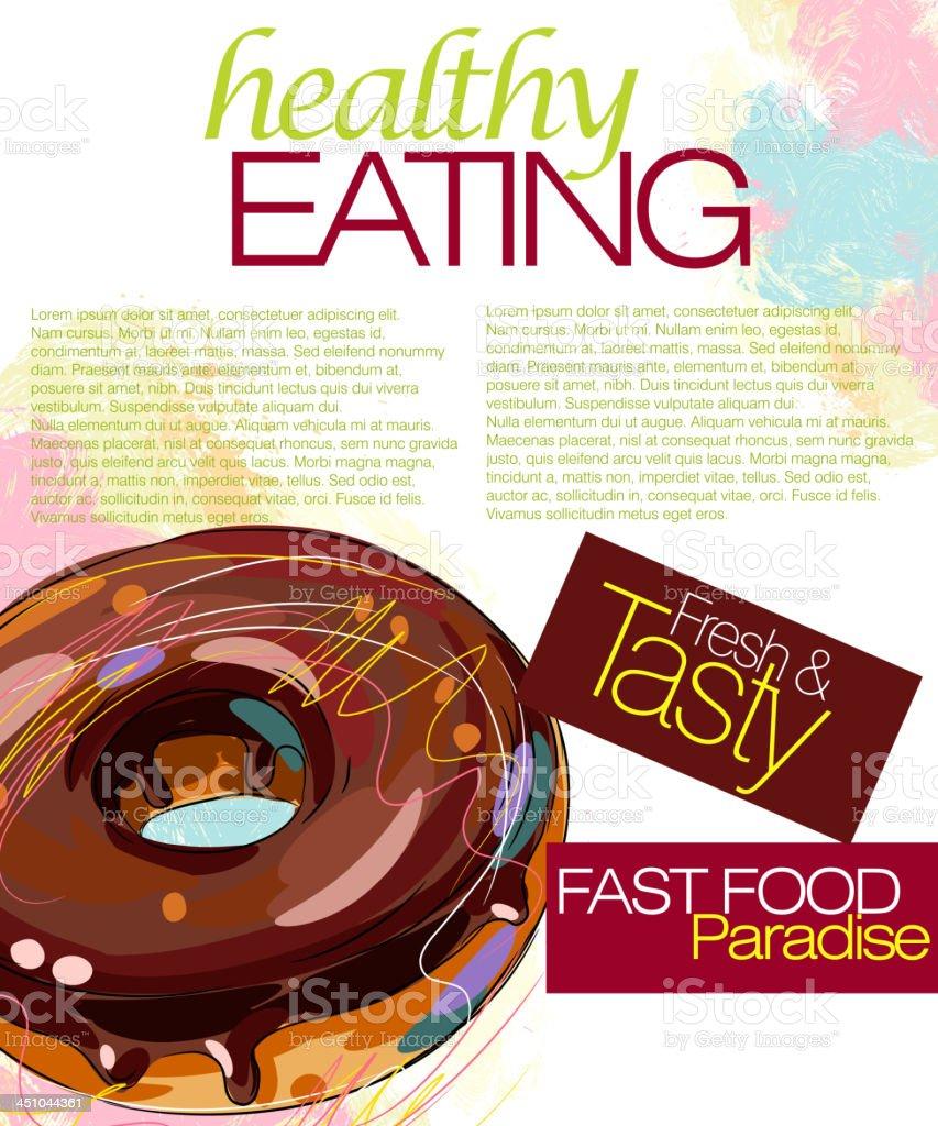 Tasty Donut royalty-free stock vector art