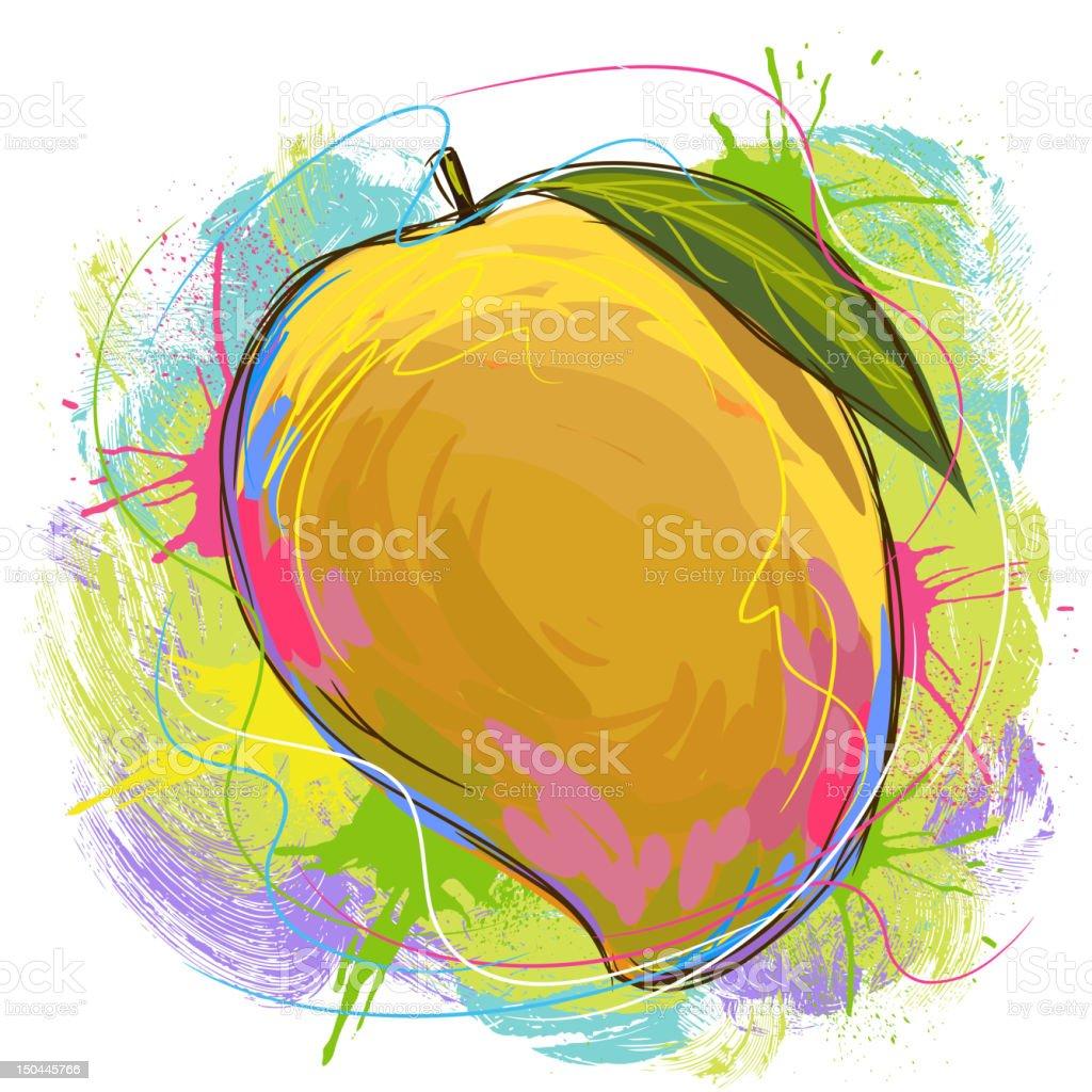 Tasty Mango vector art illustration