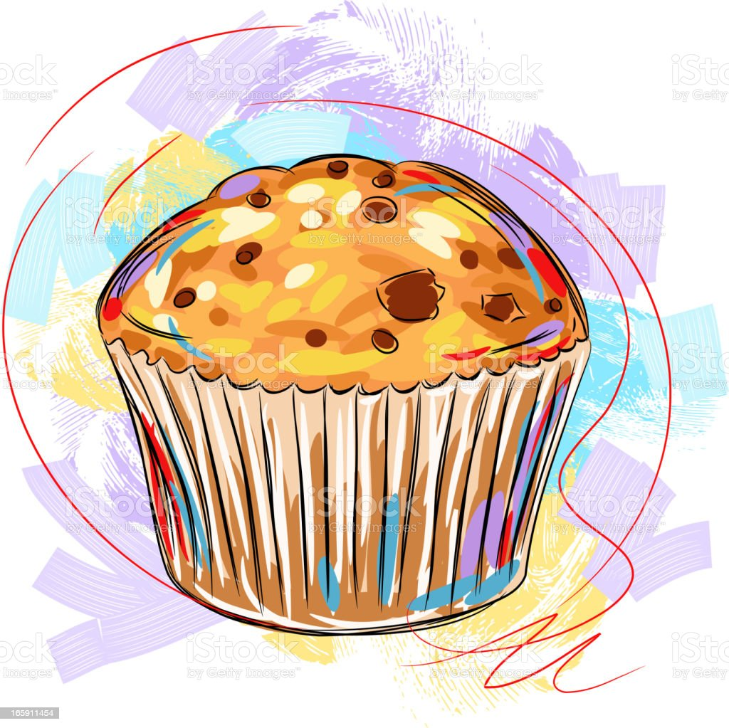 Tasty Muffin vector art illustration