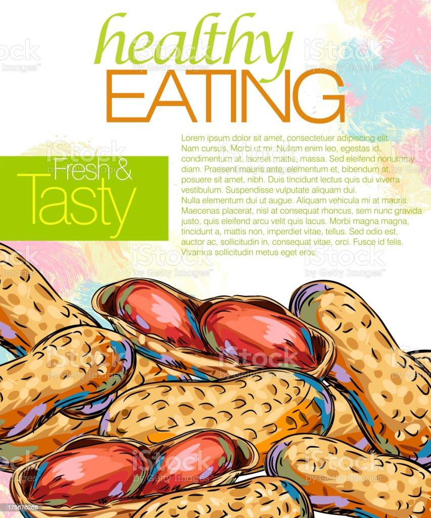 Tasty Peanuts royalty-free stock vector art