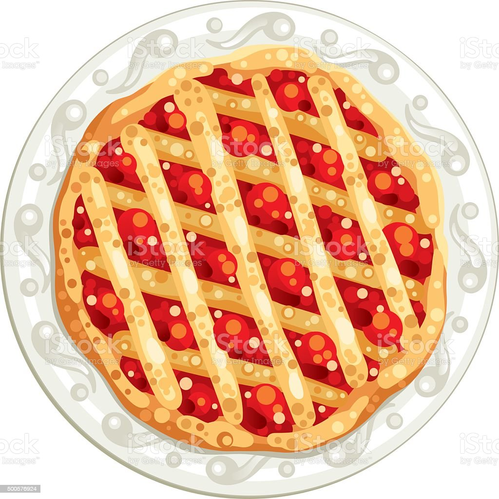 tasty pie vector art illustration