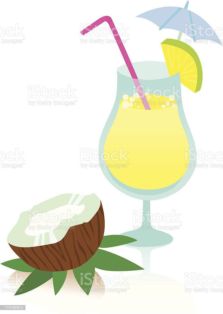 Tasty Pina Colada Cocktail royalty-free stock vector art