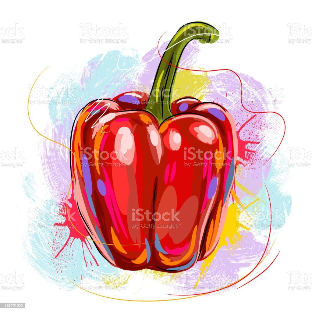 Tasty Red Bell Pepper royalty-free stock vector art