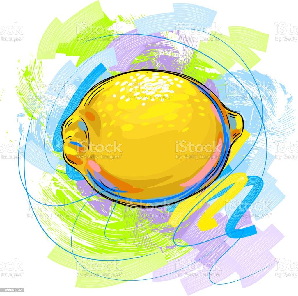 Tasty Sweet lemon vector art illustration