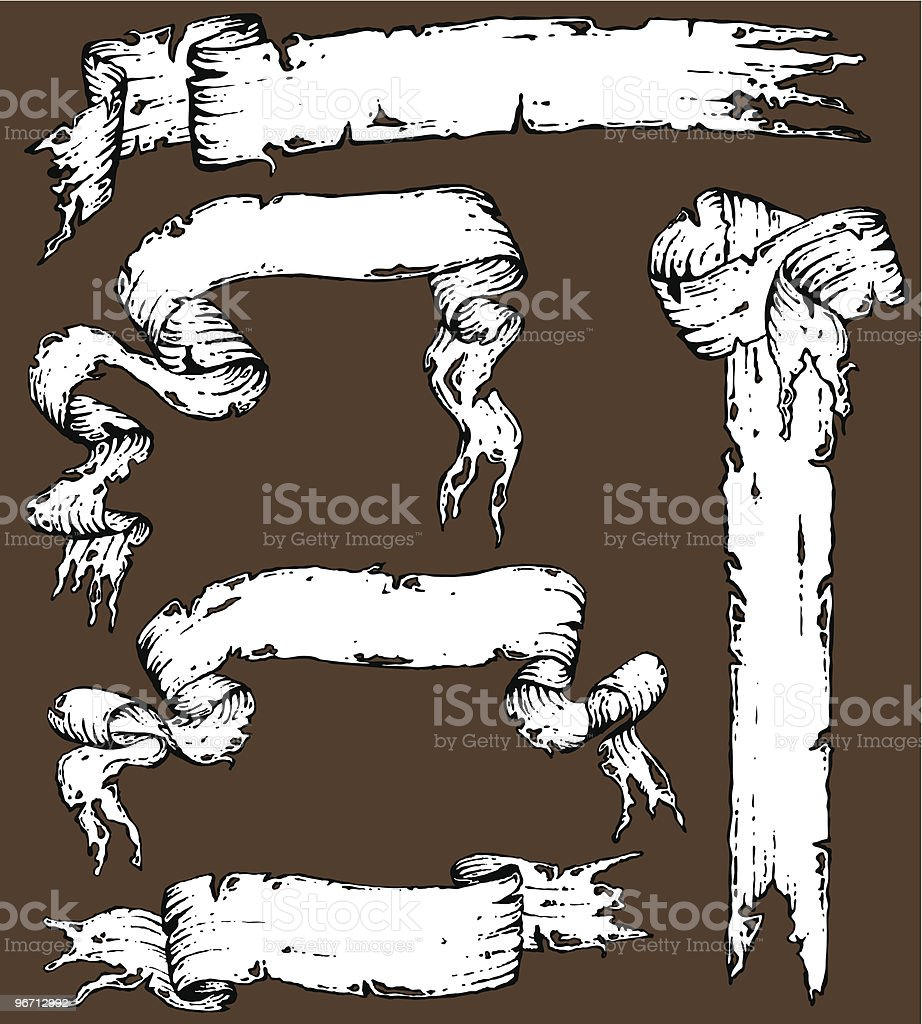 Tattered Scroll Collection royalty-free stock vector art