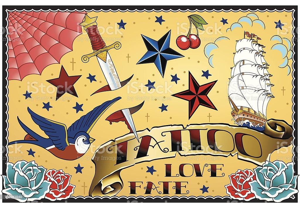 Tattoo Art vector art illustration