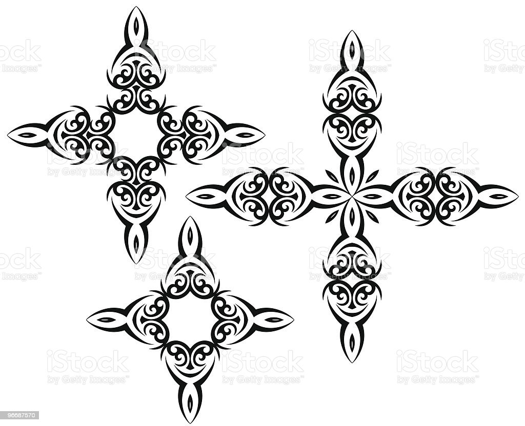 Tattoo Cross vector art illustration