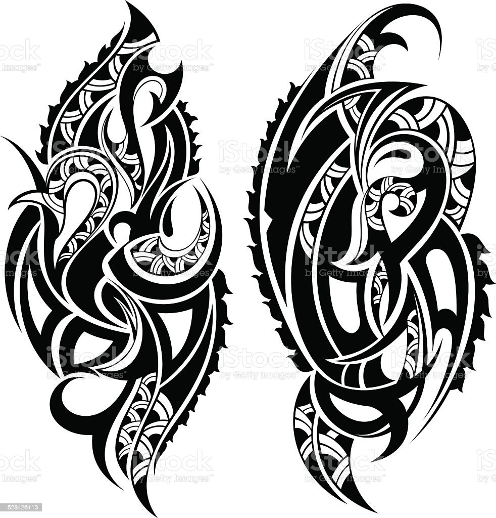 Tattoo design vector art illustration