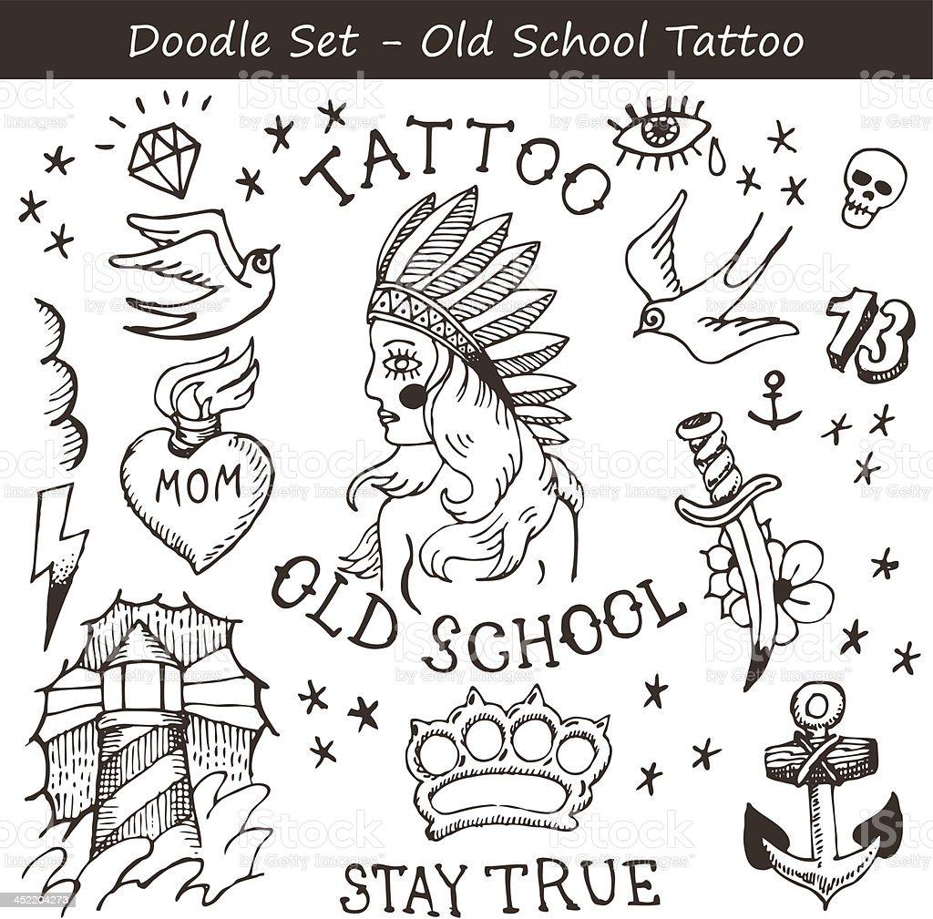 Anker bleistiftzeichnung  Tattoo Kritzeleien Vektor Illustration 452204273 | iStock