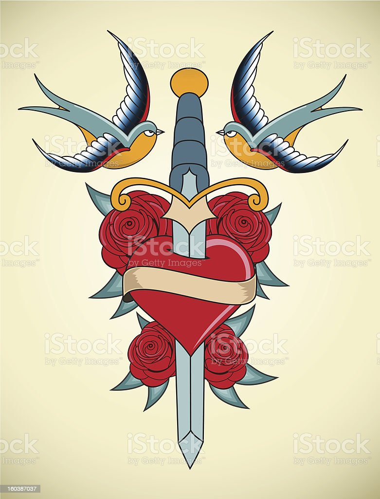 Tattoo Illustration royalty-free stock vector art