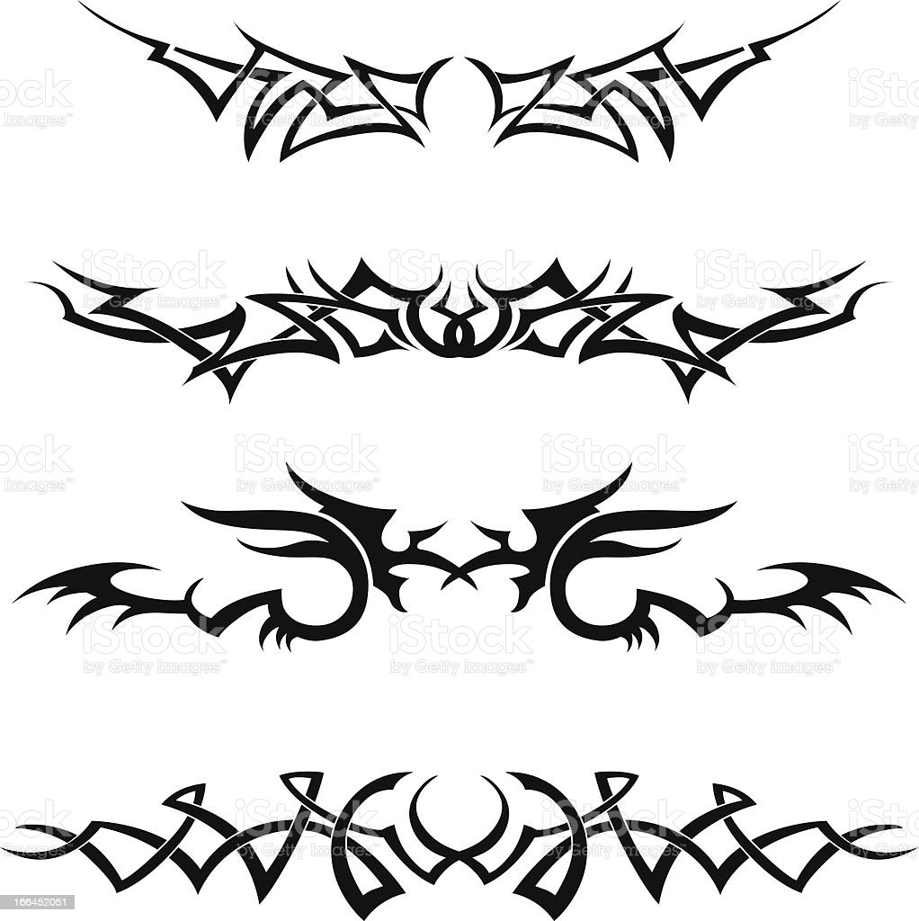 Tattoo Line Set royalty-free stock vector art