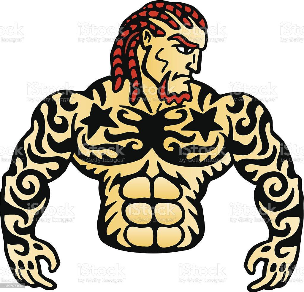Tattoo man royalty-free stock vector art