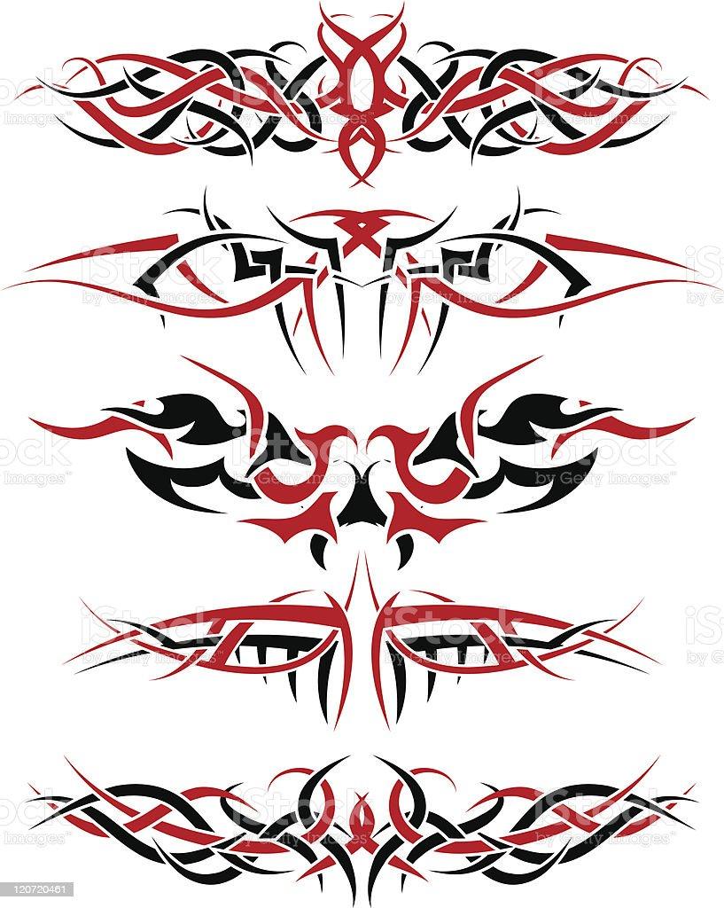 tattoo set royalty-free stock vector art