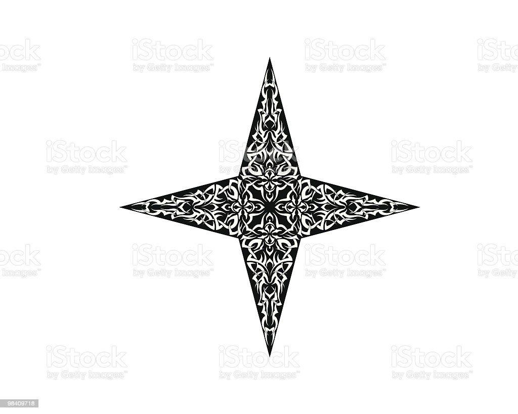 Tattoo Star vector art illustration