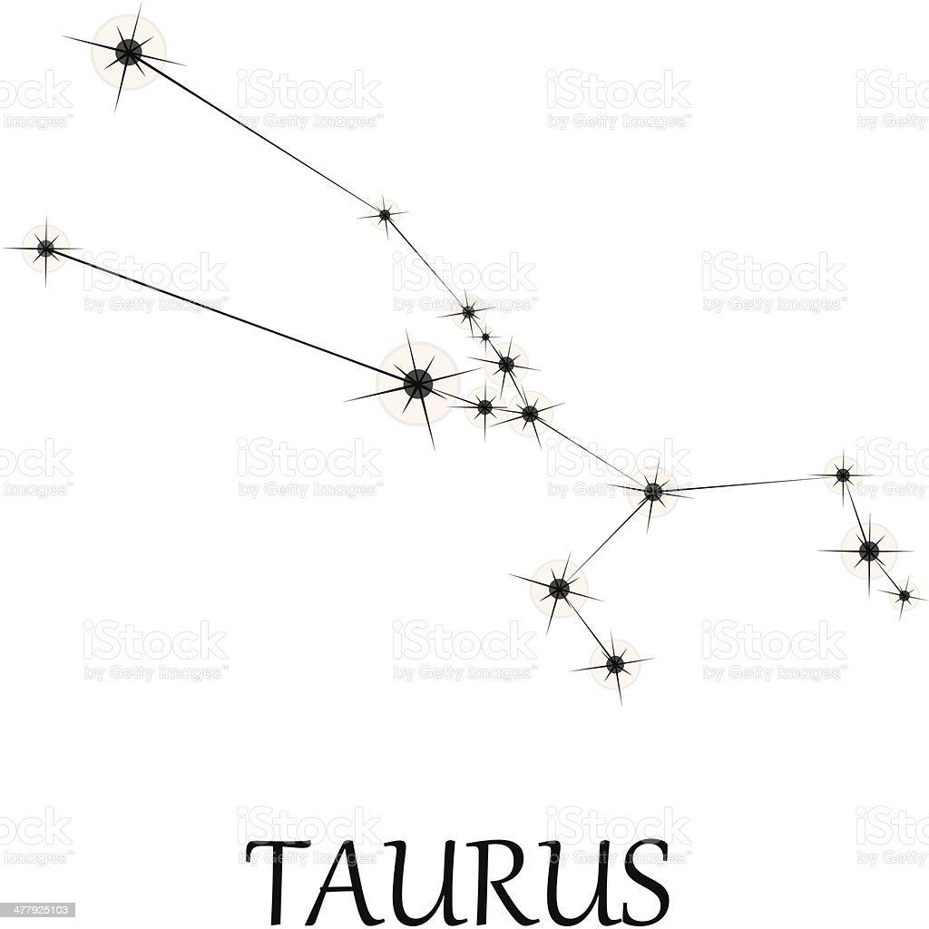 Taurus Zodiac sign. royalty-free stock vector art